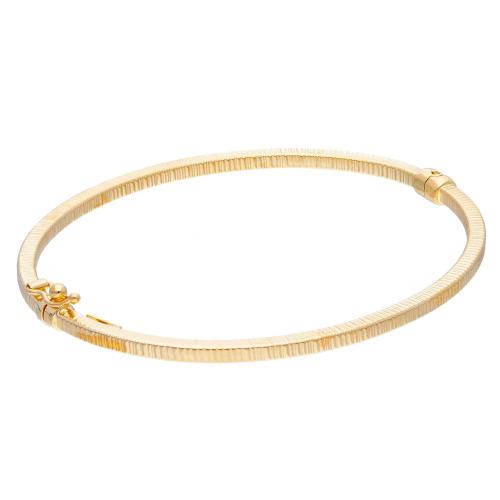Bransoletka z żółtego złota ze szlifem