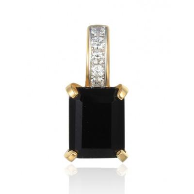 A&A Przywieszka ze złota z agatami i diamentami