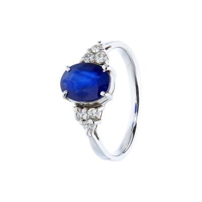 A&A pierścionek z szafirem 1,38 ct i brylantami 0,18 ct.