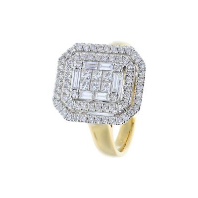 A&A Pierścionek złoty z diamentami 1,08 ct Si/H